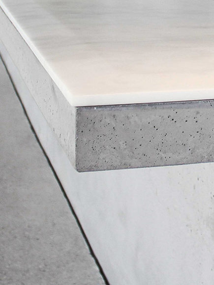 Table Beton & Marbre